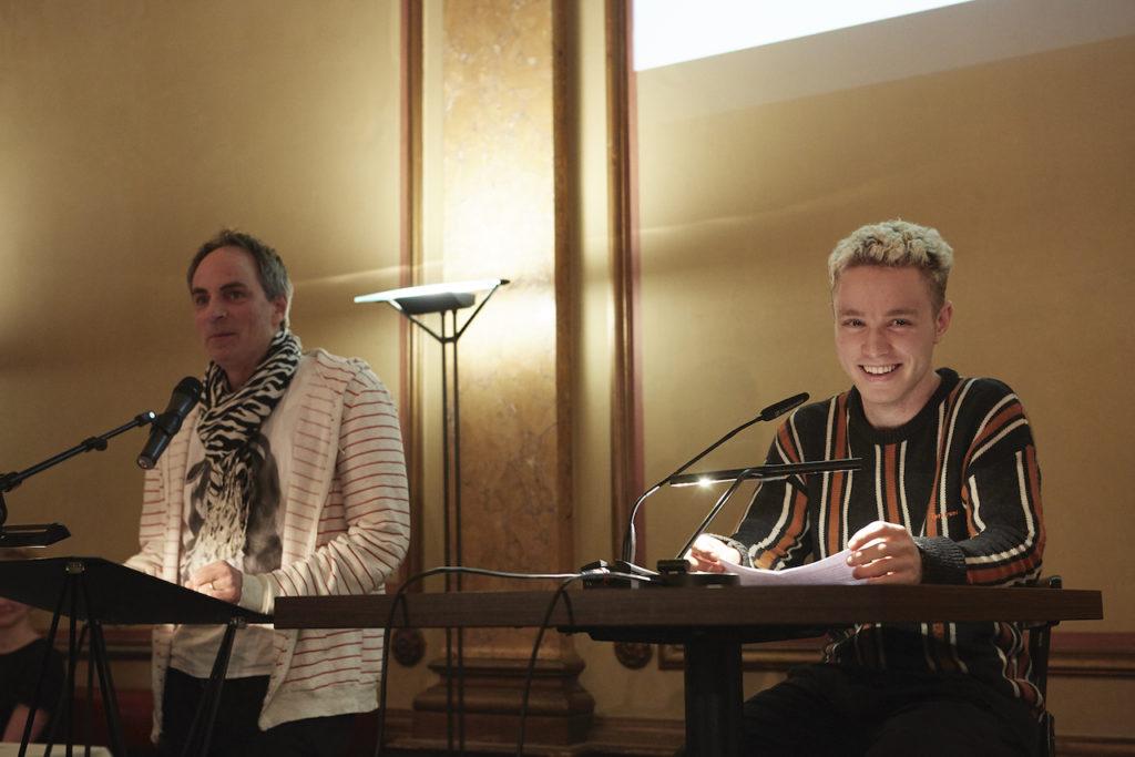 Nils Mohl und Tilman Immisch © Literaturhaus, Fotografin Sophie Daum